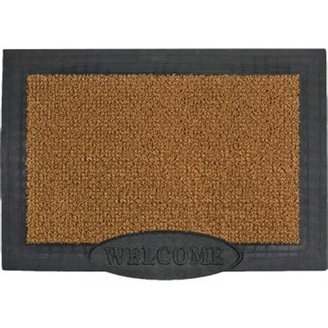 clean machine big welcome cocoa 24 in x 36 in door mat