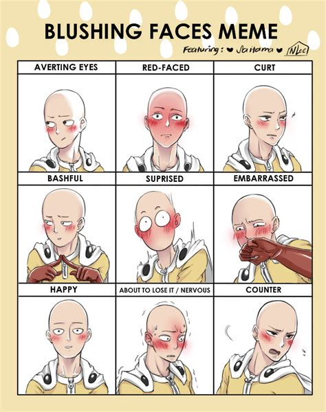 Blush Meme - saitama blush meme by nonlee on deviantart