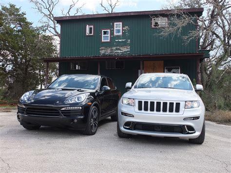 porsche jeep 2012 jeep srt8 vs porsche cayenne autos post