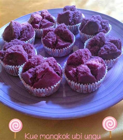 cara membuat bolu ubi ungu resep kue mangkuk ubi ungu enak mengembang