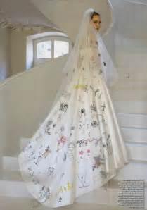 Chanel Flower Ring - angelina s jolie s wedding dress was custom designed by