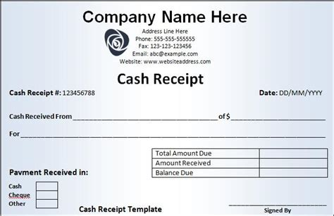 receipt for money received template receipt templates free word s templates