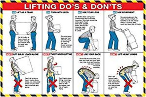 lifting do s and don ts 24 quot x 36 quot poster office products
