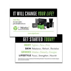 it works business cards change your two sided business card