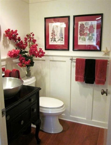 pictures of red bathrooms red bathroom decoration one decor