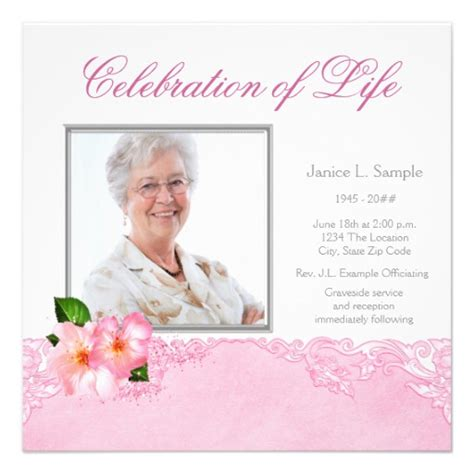 templates for funeral announcements memorial service announcement template pictures