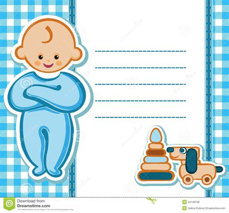 baby birthday card template card for baby boy stock vector illustration of emotions
