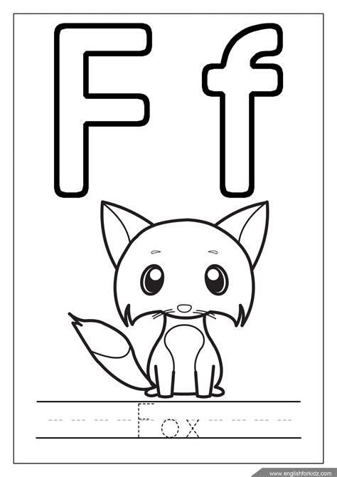 Alphabet F Coloring Pages by Printable Alphabet Coloring Pages Letters A J