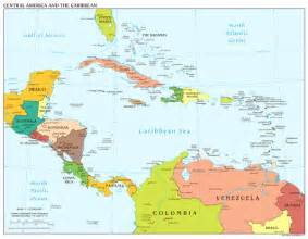 map of america and caribbean large scale political map of central america and the