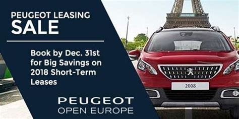 peugeot leasing europe peugeot leasing in europe auto europe