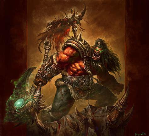 Bilder WoW Ork Streitaxt Krieger thrall, ork Fantasy Spiele