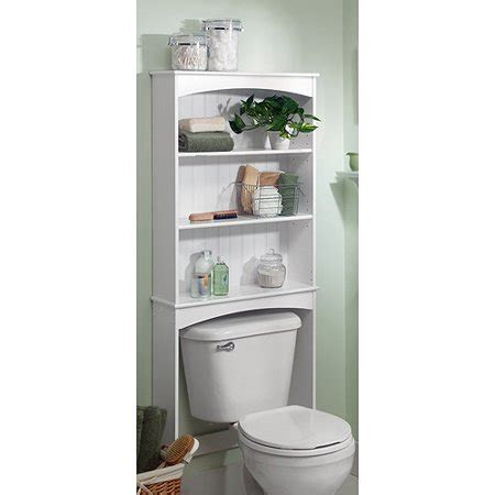 the toilet shelving unit three shelf wood bathroom spacesaving unit white
