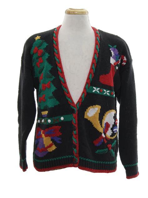 Longsleeve Black Gold 1933 Authentic 80 s vintage cardigan sweater 80s authentic vintage segue unisex black