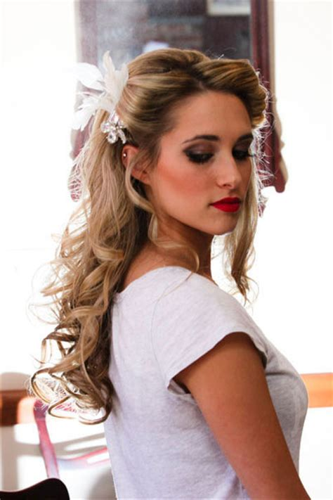 Wedding Hair Half Up Accessories by Half Up And Half Bridal Hairstyles Hairstyles