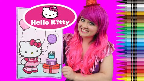 hello kitty coloring pages with crayons hello kitty valentine s day giant coloring book crayola