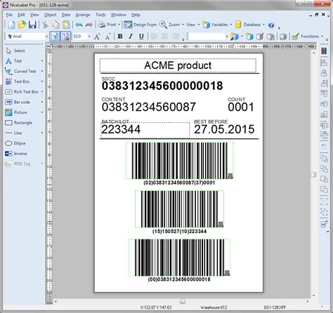 label printer templates professional barcode label designer nicelabel