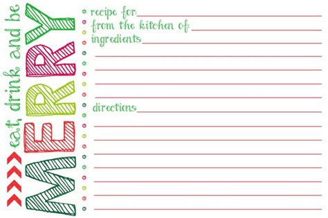 mixed drink recipe cards template for word everything you need to to host a cookie