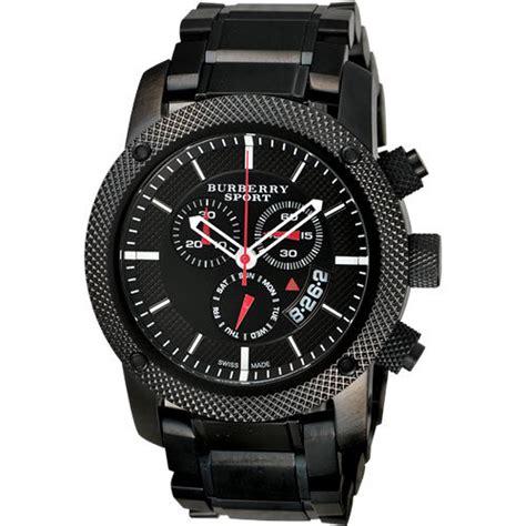 burberry sport black steel mens chronograph