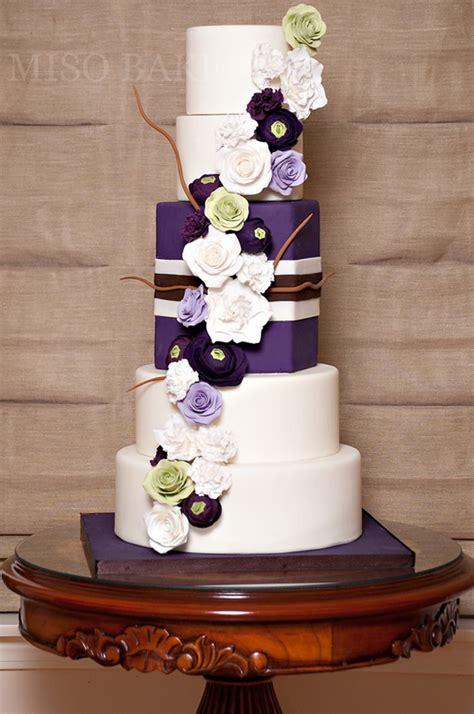 Wedding Cake Purple by Purple Wedding Cakes Stylish