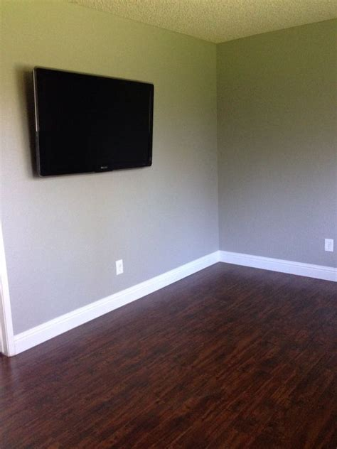 floors high baseboards and gray paint valspar woodlawn colonial gray our newly modeled