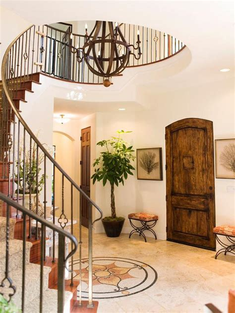 circular entryway contemporary style hgtv