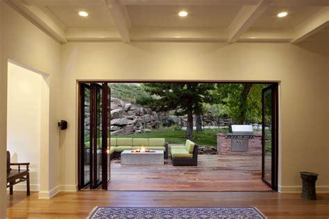 backyard window cool nana wall technique denver modern deck image ideas with accordion doors accordion