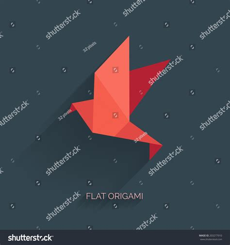 History Of Paper Folding - origami paper birdvector illustrationpolygonal shape paper