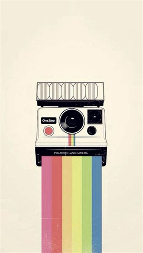 camera as wallpaper iphone polaroid camera colorful rainbow illustration iphone 5s