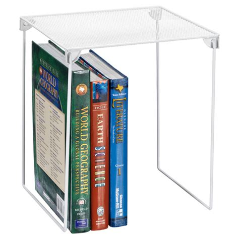 white mesh locker shelf the container store