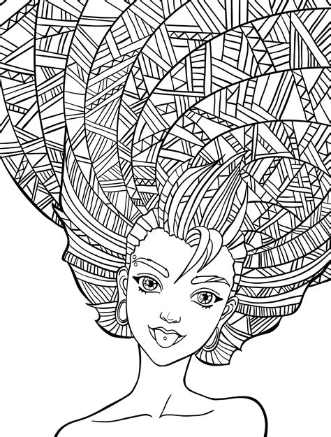 coloring pages of people s hair 10 crazy hair adult coloring pages page 9 of 12 nerdy