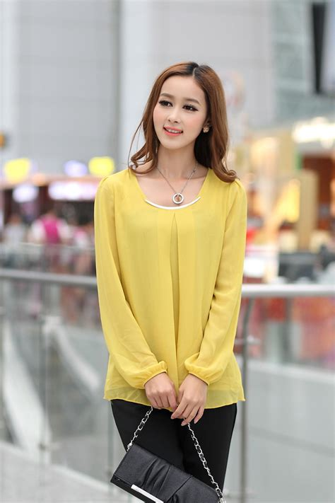 Blouse 7 8 Sleeves new wholesale best price simple style sleeve solid color ruffles collar blouse