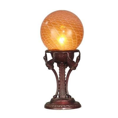discontinued dale tiffany ls dale tiffany amber blown glass globe accent l