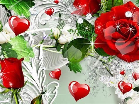 imagenes de rosas rojas y corazones rosas rojas corazones fondos de pantalla gratis