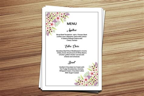 menu card templates 15 wedding menu card designs design trends premium