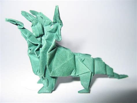 Origami Hydra - origami five headed hydra by pepius on deviantart