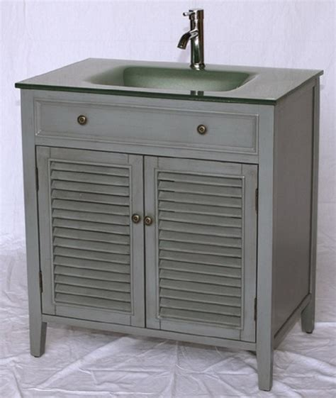 32 inch bathroom vanity cabinet 32 inch bathroom vanity cottage style gray cabinet glass