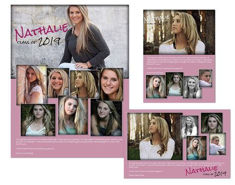 Yearbook Ads Templates Nathalie 14 99 Arc4studio Photoshop Templates For Photographers Adobe Photoshop Yearbook Template