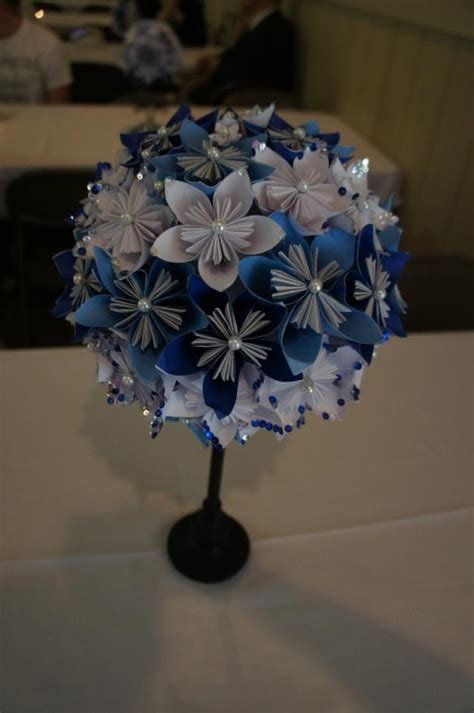 How To Make Paper Flower Centerpieces - paper flower centerpiece one day