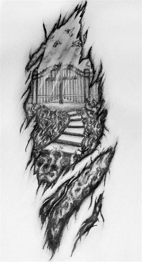 hell tattoos designs will s black and white by missmandie on deviantart