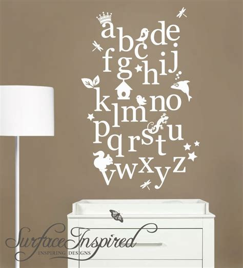Alphabet Wall Decals For Nursery Nursery Wall Decal Alphabet Wall Decals Possibly For The Garden Of Read N Co