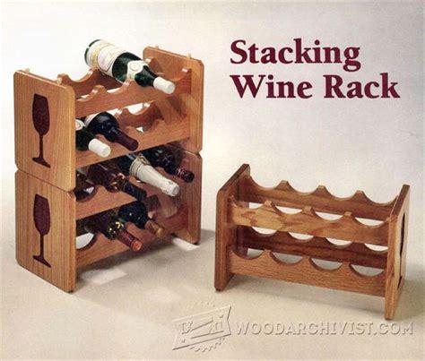 woodworking plans for wine rack stacking wine rack plans woodarchivist