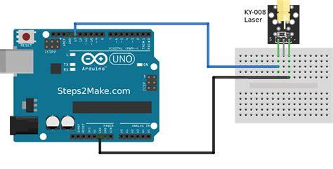 arduino laser module ky  stepsmake