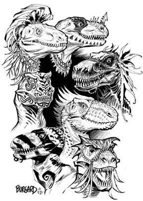 dinosaur rubber sts dinosaur tribal