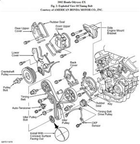 5718 Cover Timing Bawah Honda Odyssey 2 3 F23 2002 honda odyssey timing belt engine mechanical problem 2002