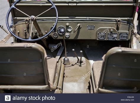 willys jeep interior wwii era willys jeep interior stock photo royalty free