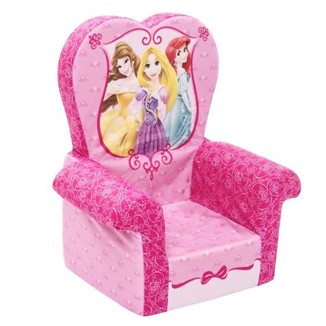 disney princess recliner spin master marshmallow furniture high back chair disney