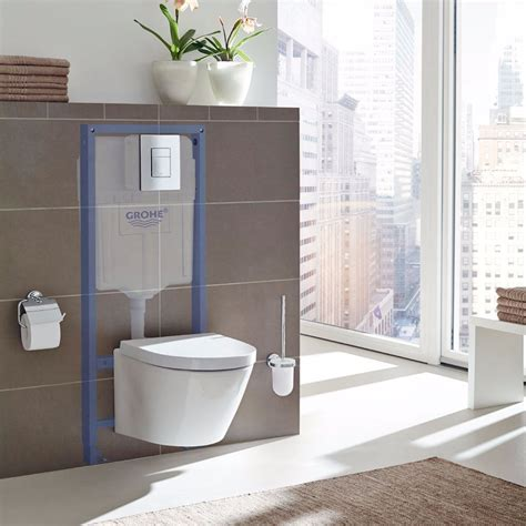 grohe wc grohe rapid wall hung basin frame 38541000 985mm blue