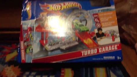 Hot wheels turbo garage playset review   YouTube
