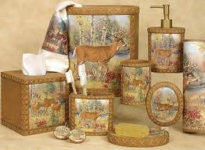 Lodge Bathroom Accessories Deer Cabin Bathroom Accessories Set Bathroom Decor Sets Tsc