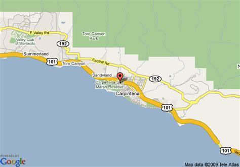 carpinteria california map map of best western carpinteria inn carpinteria